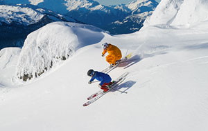 Skiers at Whistler, Canada