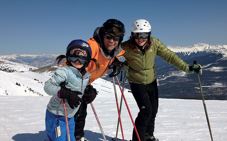 Family at Marmot Basin, Canada